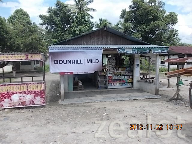 Reklame POS Material Sun Screen Dunhill Mild - Zealot Advertising Pekanbaru